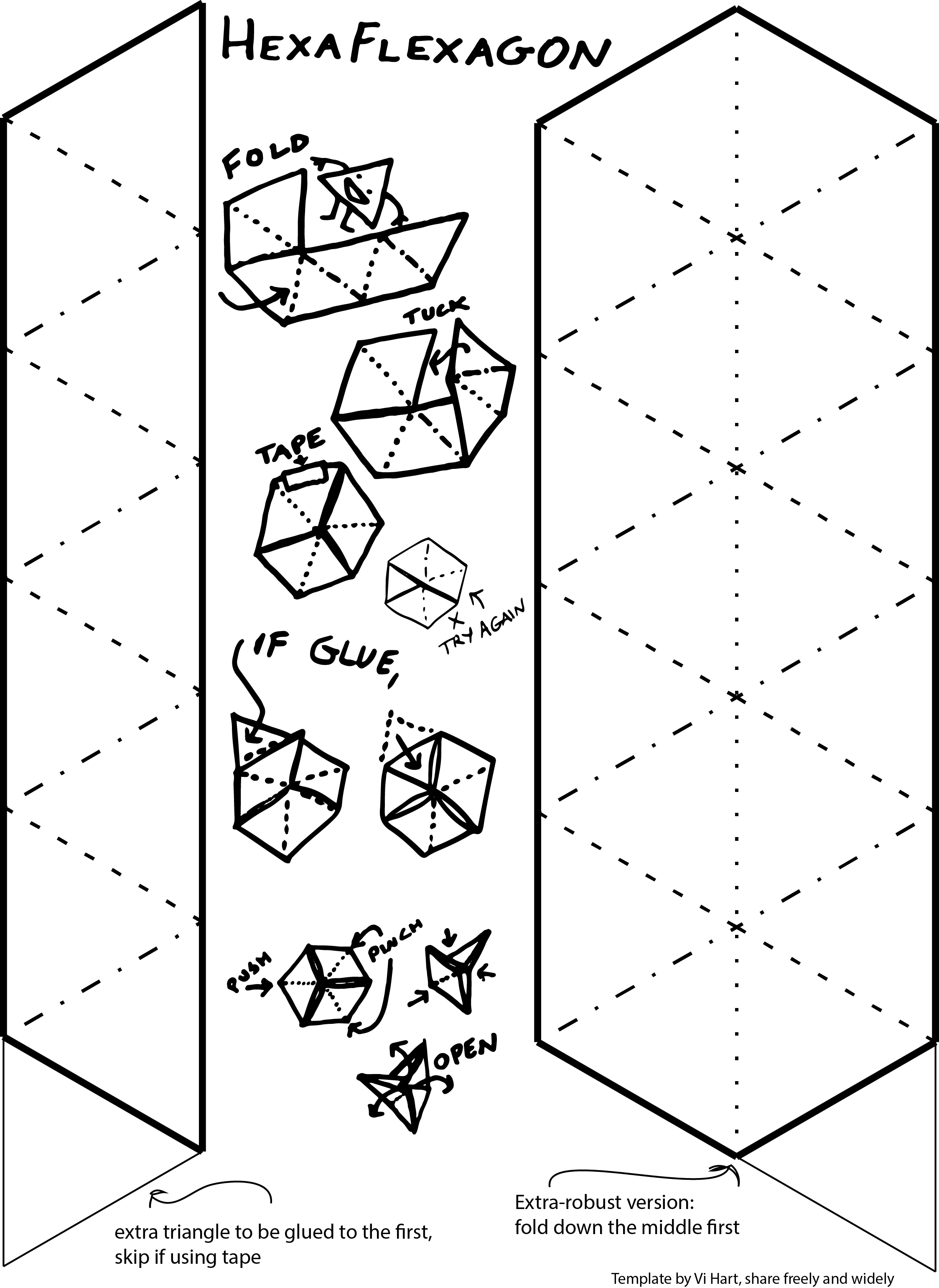 The gallery for blank papercraft templates for Hexahexaflexagon template